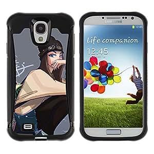 Suave TPU GEL Carcasa Funda Silicona Blando Estuche Caso de protección (para) Samsung Galaxy S4 IV I9500 / CECELL Phone case / / Girl Grunge School Street Style Outfit Art /