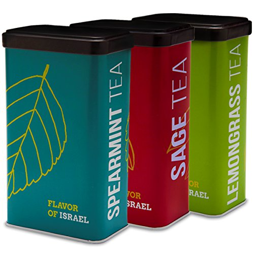 Yoffi Organic Tea 3 Pack Set - Spearmint, Sage and Lemongrass