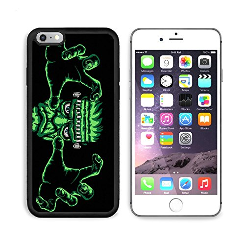 Liili Premium Apple iPhone 6 Plus iPhone 6S Plus Aluminum Backplate Bumper Snap Case iPhone6 Plus ID: 23932150 frankenstein monster black background is easy to replace with another (Frankenstein Characters Costumes)
