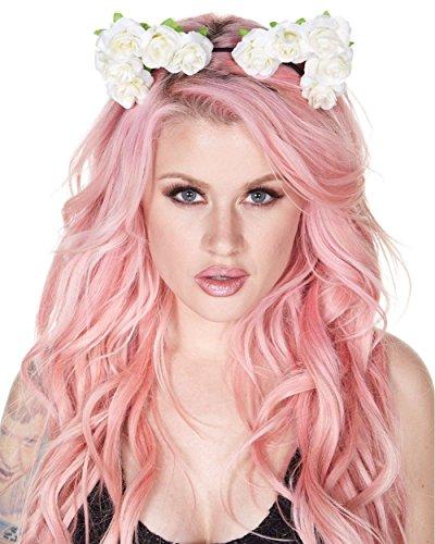 iHeartRaves Rose Cat Ears Costume Headband (Cute Rave Costumes)