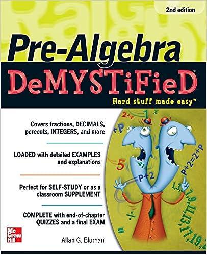Pre-Algebra DeMYSTiFieD, Second Edition: Allan G  Bluman
