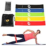 TOPLUS Set of 5 Loops Exercise Resistance Bands for Home Workout, Pilates, Yoga, Rehab, Physical Therapy with Carry Bag and Instructional Booklet