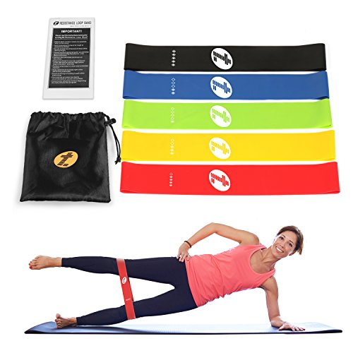 TOPLUS Set of 5 Loops Exercise Resistance Bands for Home Wor