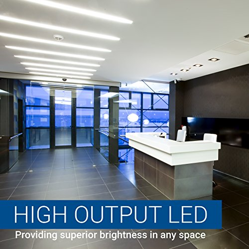 Hyperikon T8 LED Shop Light Tube, 4ft, 18W (40W equivalent), 4000K (Daylight Glow), Single-Ended Power, Clear Cover, G13 Lighting Fixtures, UL & DLC - 4-Pack by Hyperikon (Image #7)