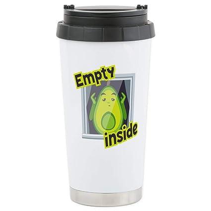8ee7b85ed6 Amazon.com: CafePress Emoji Avocado Emp Stainless Steel Travel Mug ...