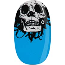 Skinz Nail Decals 24 Count Blue Skull
