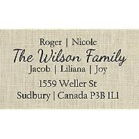 Family Address Stamp, Family Return Address stamp, Return address stamp family, Self inking family stamp - 4O