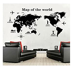 World map wall decal educational decals world map wall sticker share facebook twitter pinterest gumiabroncs Image collections