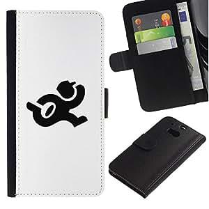 All Phone Most Case / Oferta Especial Cáscara Funda de cuero Monedero Cubierta de proteccion Caso / Wallet Case for HTC One M8 // Ejecución del cartero