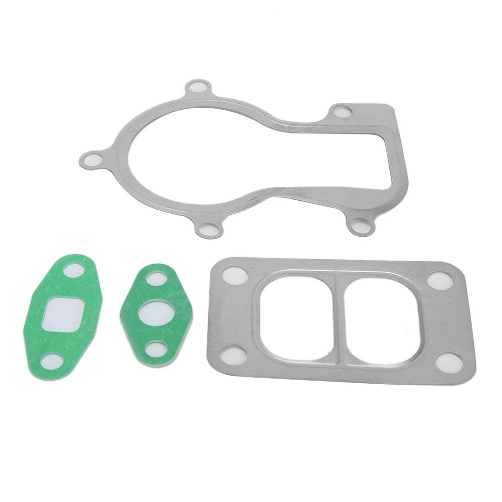 Gorgeri Stainless Steel Turbo Gasket Kit Fits for Holset HX35 HX35W Oil Inlet Outlet