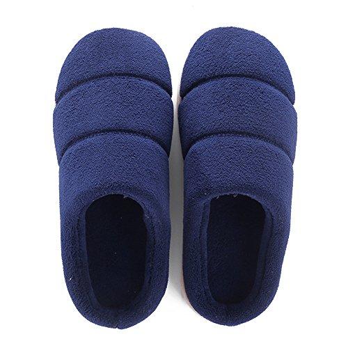 Maison Confortable amp; Chaussures Chaussons Hommes Coton Pantoufles Femmes Hommes Hiver Fuyingda Marine Peluche Chaud 4qExnafv