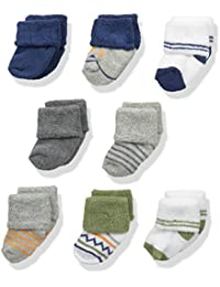 Baby Boys' Newborn Socks, 8-Pack