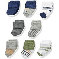Luvable Friends Unisex Baby Newborn Socks, 8-Pack