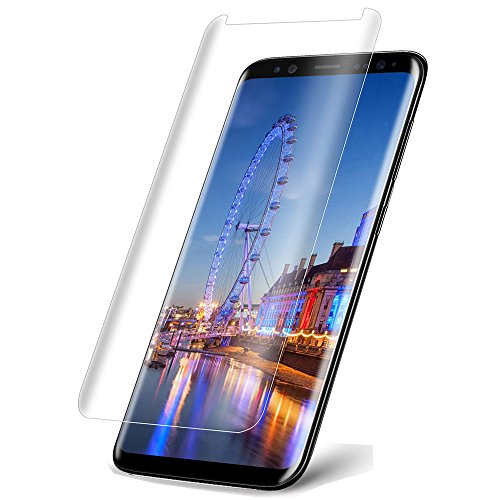 ANkoon Galaxy S8 Screen Protector Tempered Glass, 3D Curved [Case Friendly] HD Anti-Bubble Scratch Fingerprint Proof