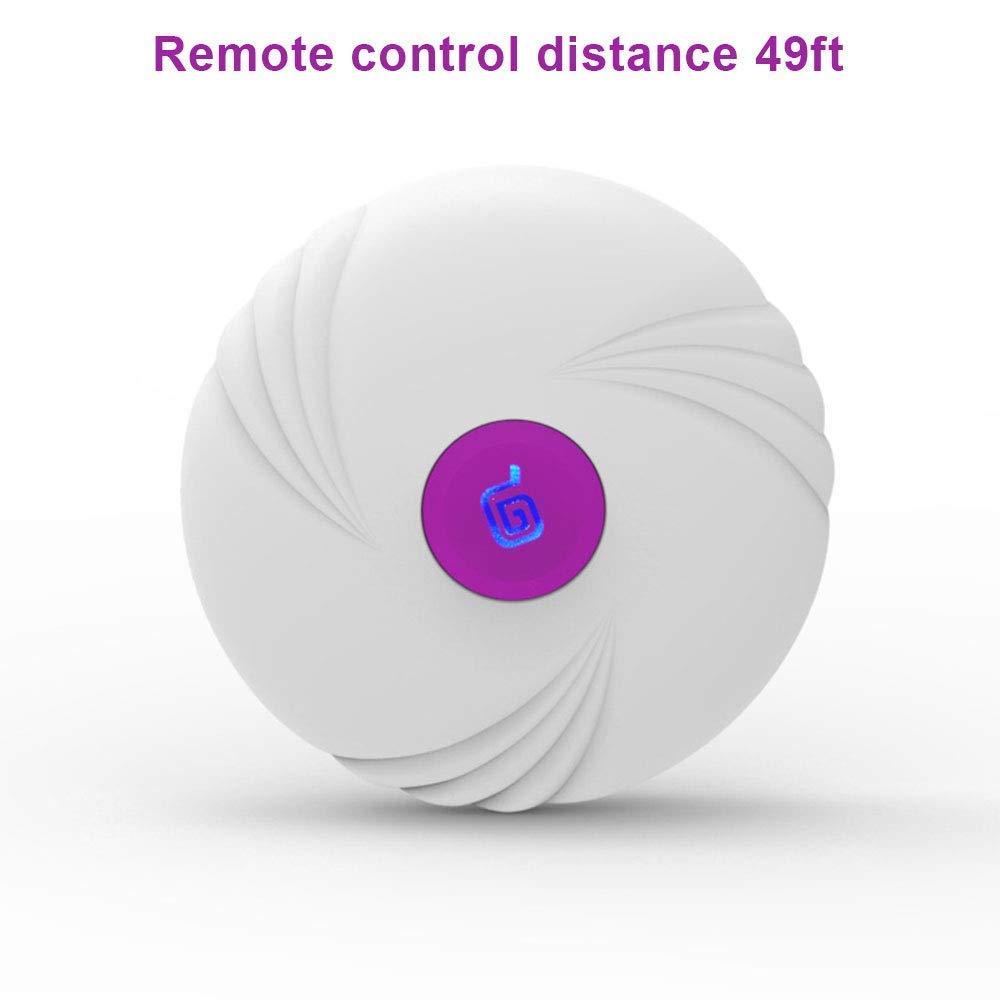 Vibrador impermeable, vibrador inalámbrico recargable remoto de frecuencia de 10 velocidades con control remoto recargable inalámbrico para relajación de espalda y cuello (púrpura) 65a043