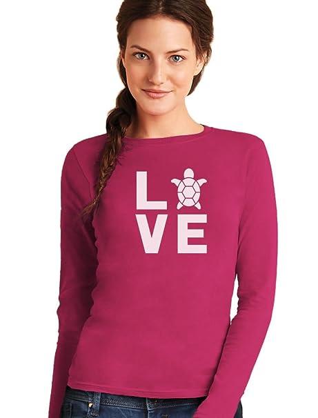 Camiseta de Manga Larga para Mujer - - Love Turtles - Regalo ...