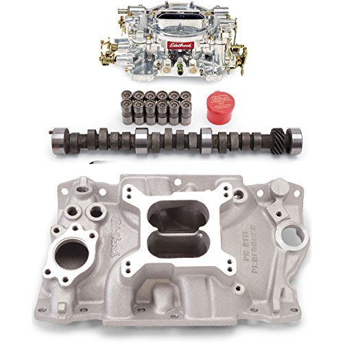 Edelbrock 2111PK Performer Power Package; Intake Manifold, Carburetor and Cams