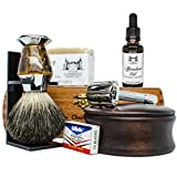 Ultimate Shaving Kit Set with Organic Shaving Soap, Aftershave...