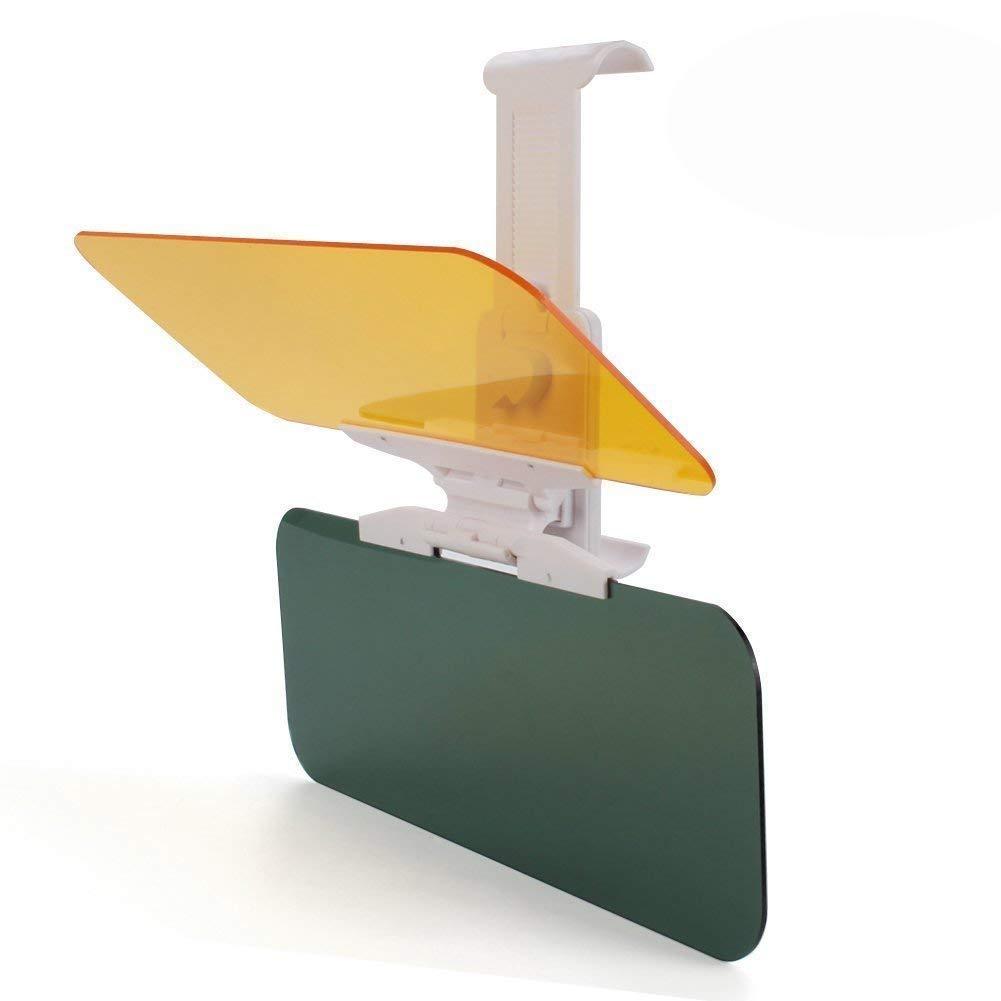 TOMTOD Estensione HD visiera parasole per auto, antiriflesso, anti-UV, antiabbagliamento, giorno e notte, protezione per occhi