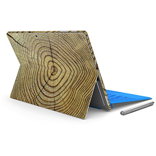 Masino Protective Decal Sticker Protector Laptop Cover Skin for 12.3 Inch Microsoft Surface Pro 4 & New Surface Pro 2017 Released (for Surface Pro 4/ Pro 5, Wood- Brown COBWEB) by Masino
