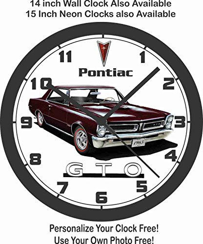 amazon 1965 pontiac gto wall clock choose 1 of 3 home kitchen 1984 Oldsmobile Hurst Edition