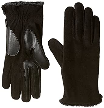 Isotoner Women's Stretch Fleece smarTouch Gloves with Spill,  Black,  One Size