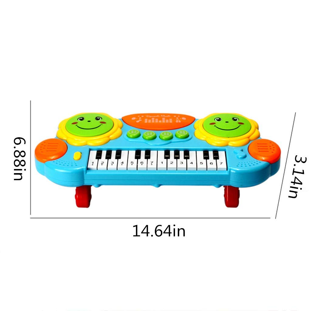 Shisay Sound and Light Music Education Keyboard 24-Key Childhood Education Multi-function Electronic Instrument Pat Drum Toy Infant Early Educational Gifts 3 year and up (24-Key Piano) by Shisay (Image #4)