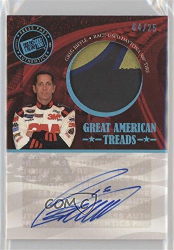 - Greg Biffle #4/25 (Trading Card) 2014 Press Pass American Thunder - Great American Treads - Blue #GAT-GB