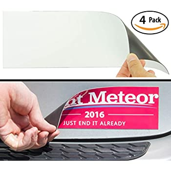 Cut to size bumper sticker magnetizer 4 pack turn any decal into a strong magnet durable weatherproof magnetic strip protects paint allows for easy
