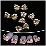 Nails gaga wholesale 100pcs golden bow tie 3D Alloy Nail Art DIY Nail decoration by CoCo-Shop