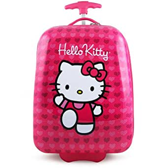 Hello Kitty Hard Shell Rolling Luggage Suitcase