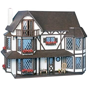Amazon.com: Greenleaf Harrison Dollhouse Kit – 1 inch escala ...