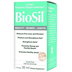 BioSil Beauty, Bones, Joints Liquid, Advanced Collagen Support for Hair, Skin, Nails, and Joints, Vegan, 120 Servings (1 oz)