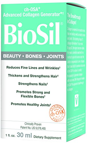 BioSil - Beauty, Bones, & Joints Liquid, Advanced Collagen Generator for Strong Hair + Nails and Healthy Skin + Joints, 120 Servings (1 oz) (Strong Healthy Bones)