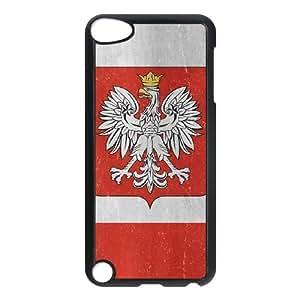 iPod Touch 5 Case Black Poland Flag Distressed SU4311212