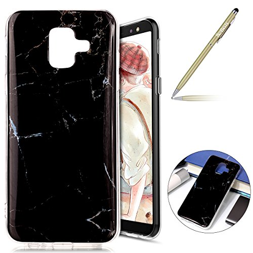 pour Ultra Homme Skin Samsung Coque en Gel Silicone Gel Case Cover Souple Coque Marbre A6 Soft Housse Gel Silicone Femme Fille Flexible Etui TPU 2018 Soft Herbests A6 12 Case Motif Slim Galaxy 2018 Protective YgqwS4x4Z