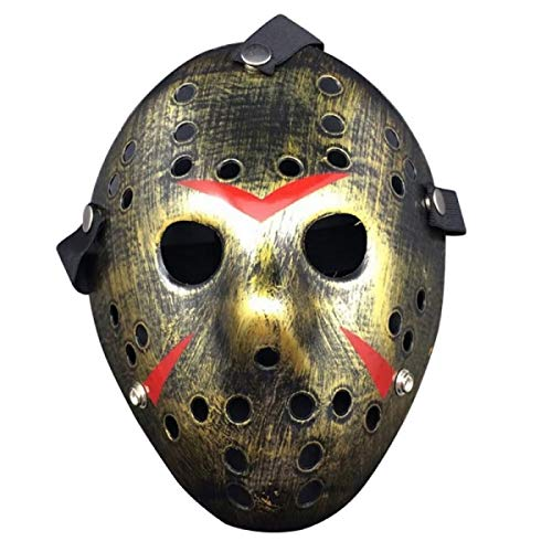 Jason Voorhees Friday the 13th Horror Movie Hockey Mask Halloween Scary Mask Costume -
