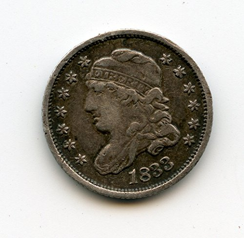 - 1833 Capped Bust Half Dime VF-25