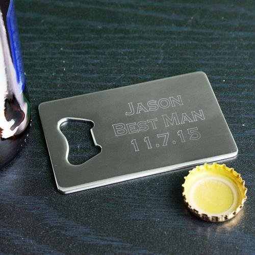 Personalized Credit Card Bottle Opener, Non-Tarnish Stainless Steel -