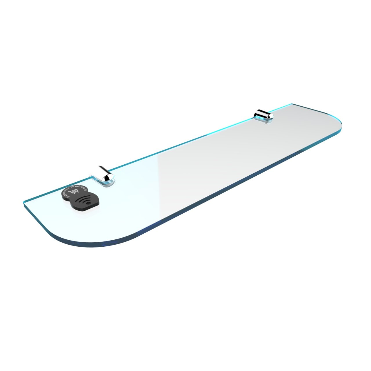 Black Bathroom Expression Products Straight Acrylic Safety Shelf 400mm x100mm Bedroom Office Free Trolley Token Material Sample Included per Shipment