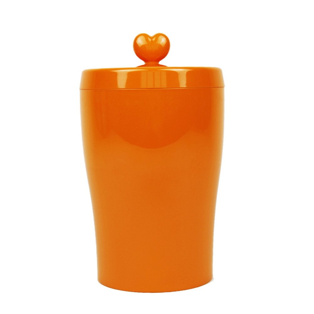 orange gold Wing Melamine Airtight Pet Dog Cat Bird Food Storage Tank Bucket Container Cup orange