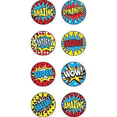 Teacher Created Resources Superhero Mini Stickers (5642): Office Products