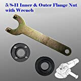 Grinder Flange Lock Nut Wrench Kit for Dewalt Milwaukee Makita Bosch Black & Decker Ryobi 4.5'' 5'' 5/8-11 Spanner