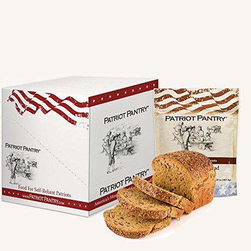 Price comparison product image Patriot Pantry Honey Wheat Bread Case Pack (72 servings,  6 pk.) Bulk Emergency Storage Food Supply,  Up to 10-Year Shelf Life