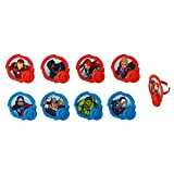 National Cake Supply Marvel Avengers Mightiest Hero Cupcake Rings - 24 Count