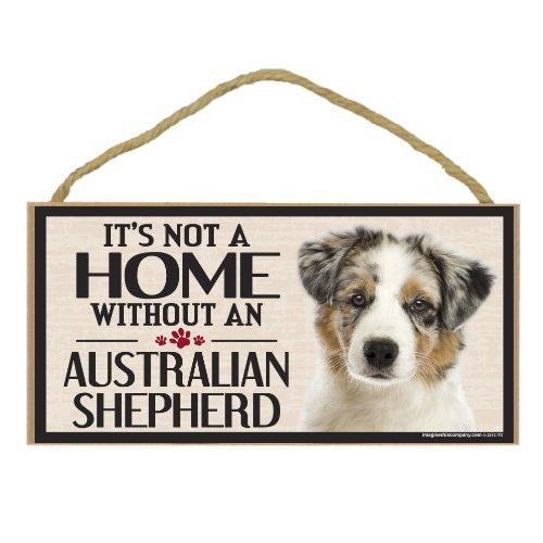 Imagine This Wood Sign for Australian Shepherd Dog Breeds ()