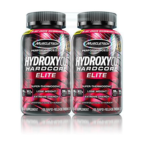 MuscleTech Hydroxycut Hardcore Elite, Super Thermogenic, Weight Loss Supplement 100 Count (2 Pack)