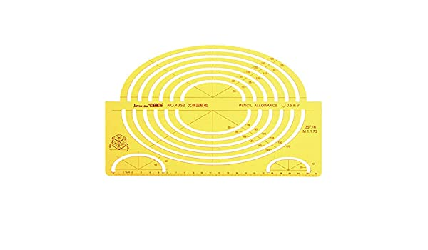 Green Useful for Students LE Multi-shape Geometric and Circle Template Ruler