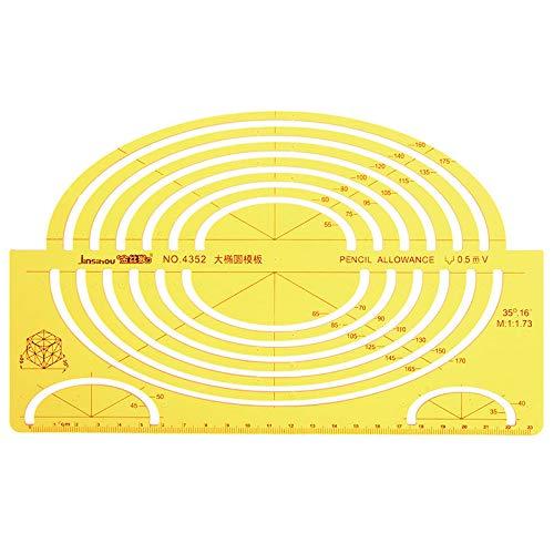OKIl Large Ellipse Big Oval Semi Elliptical Shape Drawing Template KT Soft Plastic Ruler Drawing Board