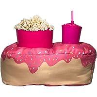 Almofada Porta Pipoca Solteiro Donuts Cor:Rosa